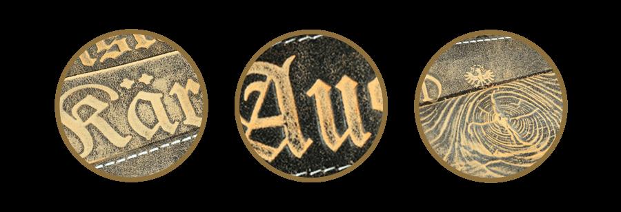 Individuelle Prägung Gürtel und Armbänder mit Wappen